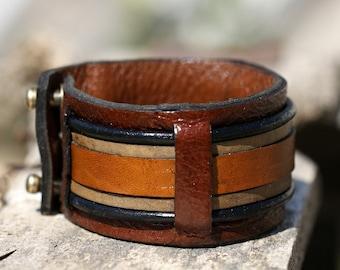 Womens leather bracelet womens cuff bracelet  bracelet en cuir womens jewelry Anniversary Gift