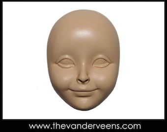 Mold No.147 (Face-Puff  cheekbone with smiling) by Veronica