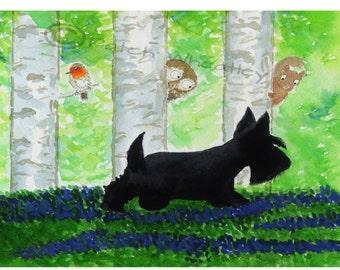 Scottie Dog 'Woodland Friends'  Art  Print #63
