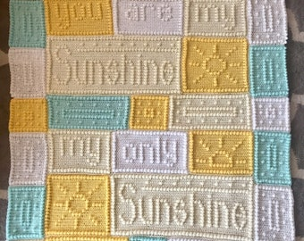 You Are My Sunshine Blanket /Afghan