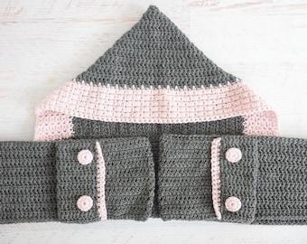 Hooded Scarf | Crochet Pattern | Hooded Scarf Pattern | Hooded Scarf with Pockets Crochet Pattern | Crochet Hooded Neck Warmer | PDF Pattern