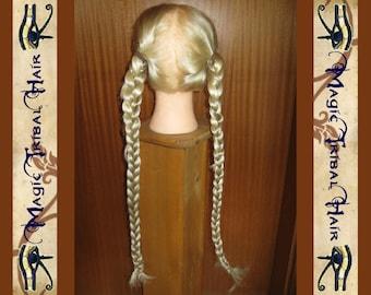 2 x CUSTOM-MADE PLAIT 20''/ 50 cm switch braid Fantasy Rapunzel hair falls ponytail Goth Steampunk belly dance wig Reenactment sca medieval