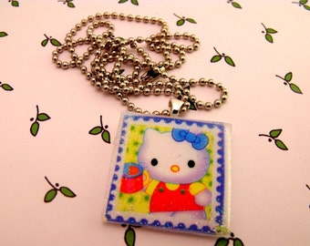 Much Love, Hello Kitty - Resin Necklace