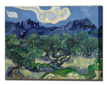 Van Gogh Olive Trees Canvas Print Wall Decor Vincent Van Gogh Painting Interior Design Home Decor Ready To Hang