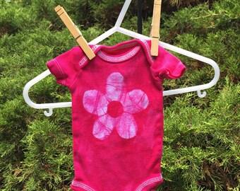 Preemie Girl Bodysuit, Pink Preemie Bodysuit, Premature Baby Gift, Pink Flower Baby Bodysuit, Preemie Baby Gift, Preemie Girl Gift