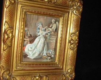 European Minature Painting of Woman