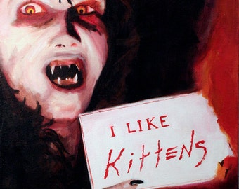 "Angela Loves Kittens and Sending People to Hell, Night of the Demons 8"" x 10"" Print"