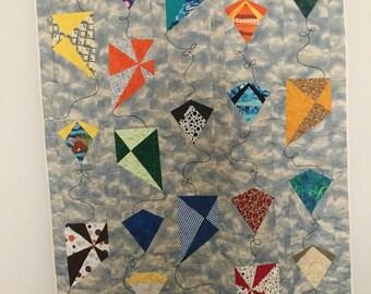 Flying kites quilt