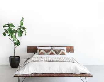 Reclaimed Wood Platform Bed Frame - handmade sustainably in Los Angeles