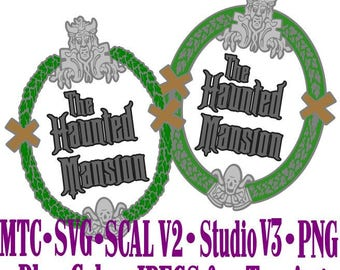 Haunted Mansion Sign #01 Embellishment Cut Files MTC SCAL SVG File Format