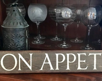 Barnwood Bon Appetit Kitchen Rustic Wooden Sign