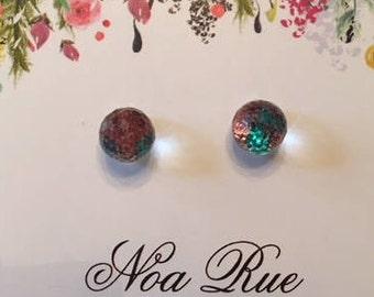 8mm Disco Ball Stud Earrings