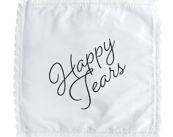 Happy Tears Lace Handkerchief