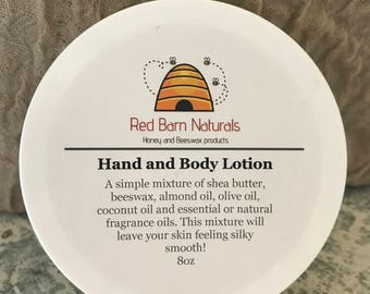 Natural Hand and Body Lotion
