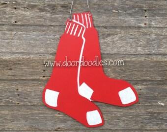 Red Sox front door ... & Red sox door hanger | Etsy