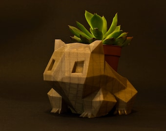 Gold Bulbasaur Planter