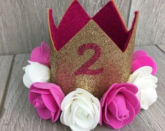 Ersten Geburtstag Kuchen Smash Krone, Krone, erster Geburtstagskrone, erster Geburtstag, Babyfotografie, Geburtstag Outfit, Kuchen Knautschen, Krone, Glitzer-Krone