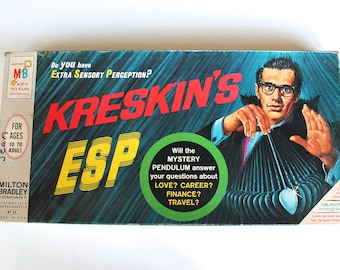 Vintage 1960's-70's Kreskin's ESP and The Six Million Dollar Man Board Game Lot!