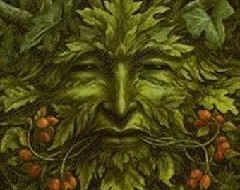 Green Man  Incense -11 inch Double Dipped  and Handcrafted