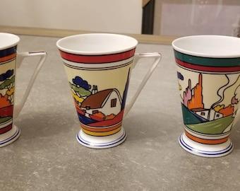 Wren fine bone china mugs/cup set. Made in  England