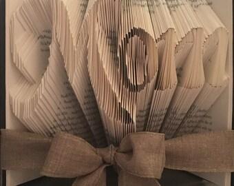 Folded Book Art/ Origami- Mom