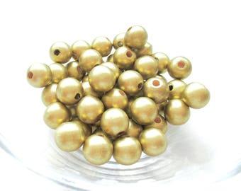 25 pacifier 12mm - gold wooden beads