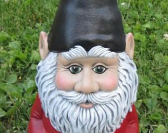 Garden Gnome - Yard Art - Gnome Statue - Gnome Figurine - Outdoor Decor - Garden Decor - Cute Ceramic Gnome - Fathers Day gift