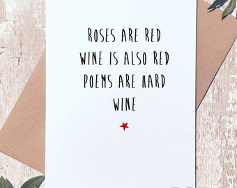 Funny card,Birthday card for friend, card for her, card for best friend, wine card, card for him, wine lover card,