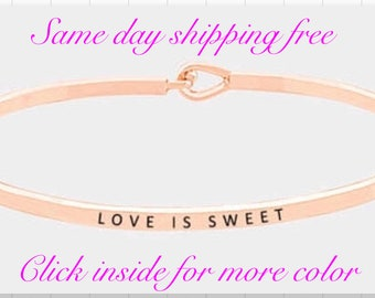 LOVE IS SWEET - inspired thin hook bracelet