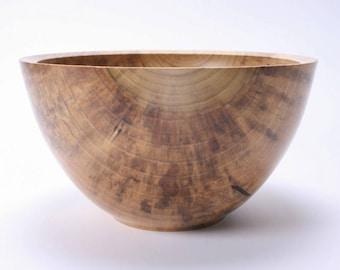 "Tulip Poplar Wooden Salad Bowl #1557  10 3/4"" X 6"""