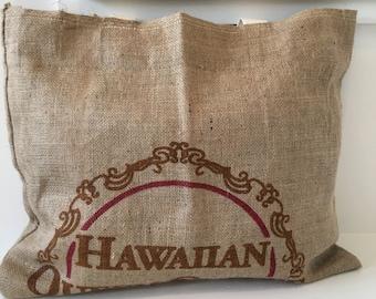 Burlap Market Bag/ Tote/ Coffee Sack Tote/ Beach Bag