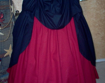 Steampunk or Pirate/Renaissance Skirt Set Plus Sizes And Other Colors Available