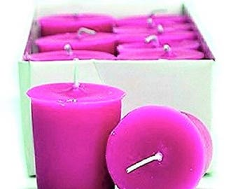 15 Hour Magenta Unscented Soy Votive Candles Pick A Pack