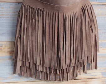 Boho fringe bag, leather festival purse, fringe cross body bag, cowgirl bag, festival boho bag, boho hippie fringe bag, gypsy style bag