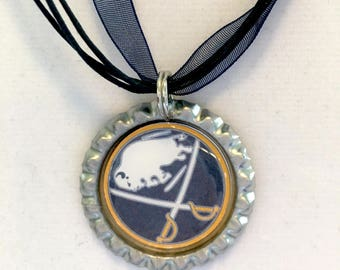 Buffalo SABRES Handcrafted Hockey Necklace