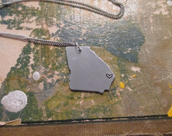 The Nelson Necklace - Georgia Love Pendant Necklace or Key Chain