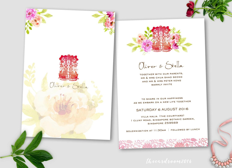 Printable Wedding Invitation Set wedding Invitation RSVP