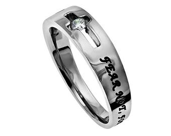 "Solitaire Ring ""Fear Not"""