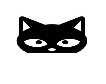 Peeking Cat Vinyl Decal - Great for Car Windows, laptops and tablets