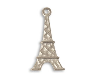 DESTASH SALE: Vintaj Artisan Pewter Eiffel Tower Pendant 13.5x25mm Set of 14