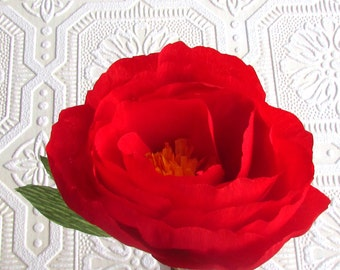 Scarlet Red Peony - Paper peony, Paper flower