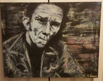 Tom Waits in pastels