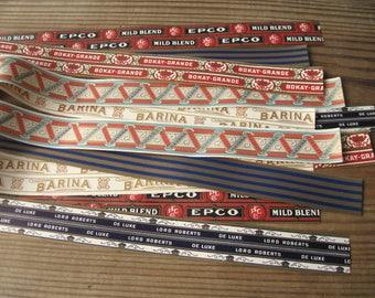 Vintage Cigar Box Edging Labels Banding 20 inches long (12)