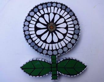 Mosaic Art, Mosaic, Retro Flower, Mosaic Flower, Mosaic Wall Art