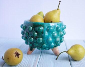 Modern Ceramic Bowl - Blue Ceramic Bowl - Modern Ceramic Planter - Gift For Him - Gift For Her