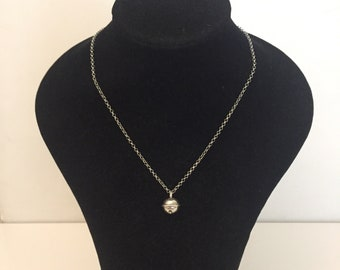 Necklace with bells called Angels in sterling silver
