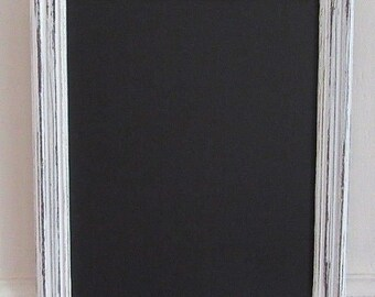 Small 'Shabby Chic' White Framed Chalkboard / Blackboard / Wedding Board
