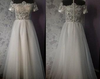 Boho wedding dress,Vintage wedding dress,Lace wedding dress,Inspired wedding dress,Sexy bridal dress,Beach bridal gown,