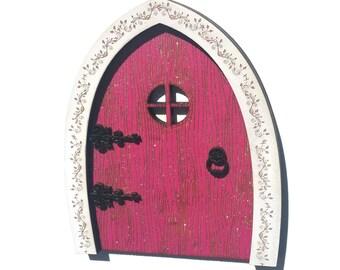 Pink Fairy Door - Wood Fairy Door - Fairy Door - Fairy Garden - Fairy Doors for Wall - Fairy House