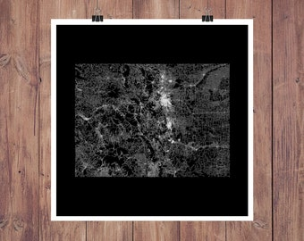 Colorado Map Art / Map of Colorado / Colorado Print / Colorado Wall Art / Colorado Poster / Colorado Art / Colorado Gifts / Denver Map